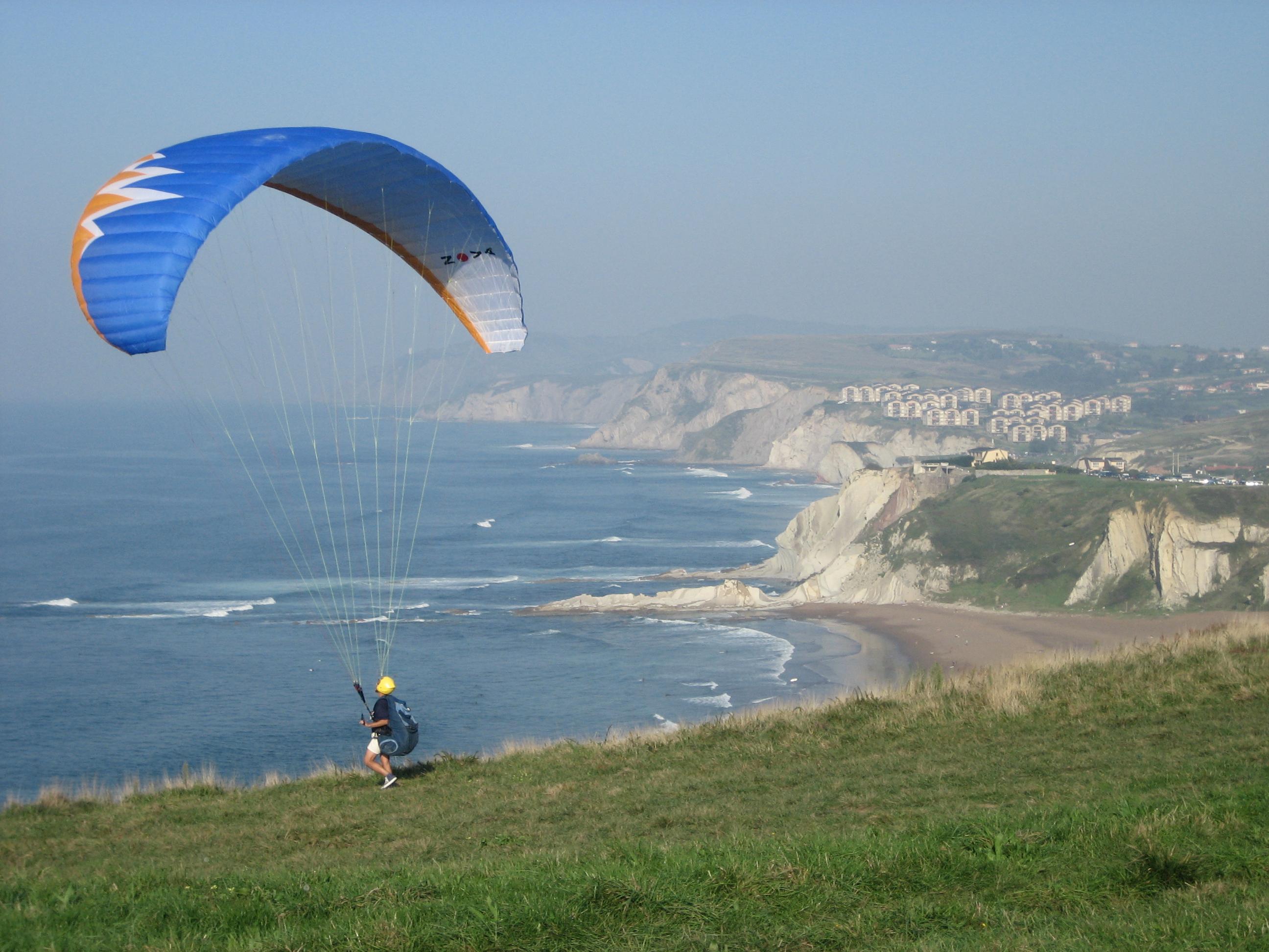 Foto playa Gorrondatxe / Azkorri. parapente josetxo19