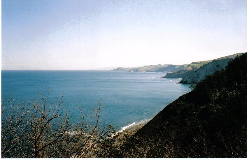 Foto playa Itxaspe. vistas pais vasco