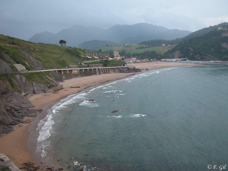 Foto playa Itxaspe. deba2
