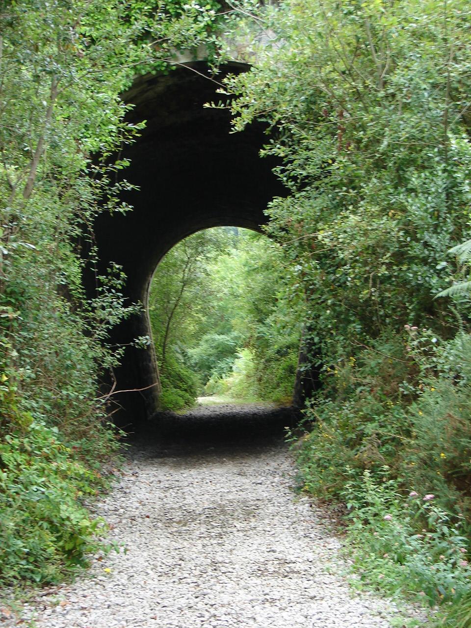 Foto playa Mendata. tunel via verde