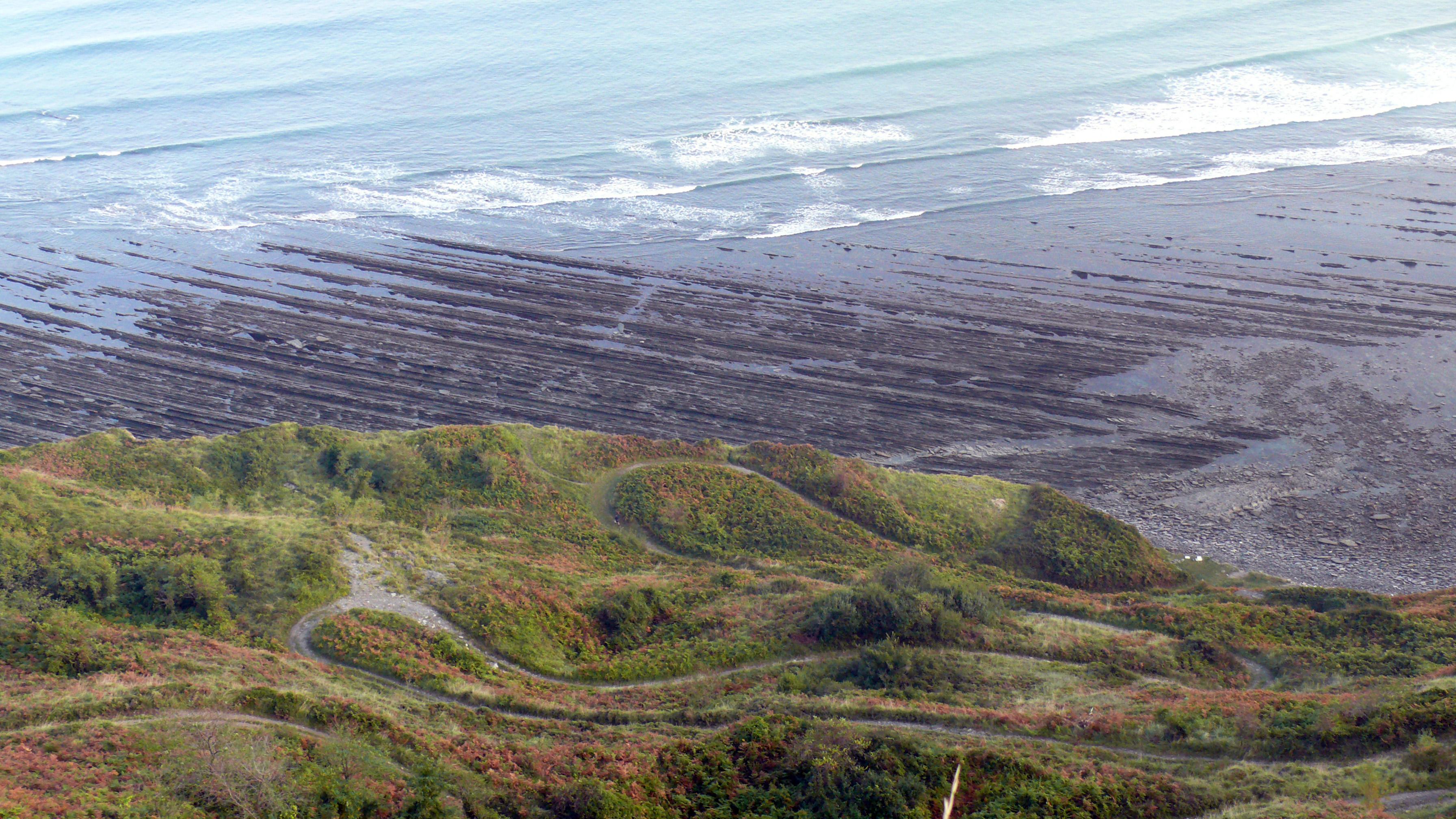 Foto playa Sakoneta. Rasa mareal en Elorrixa