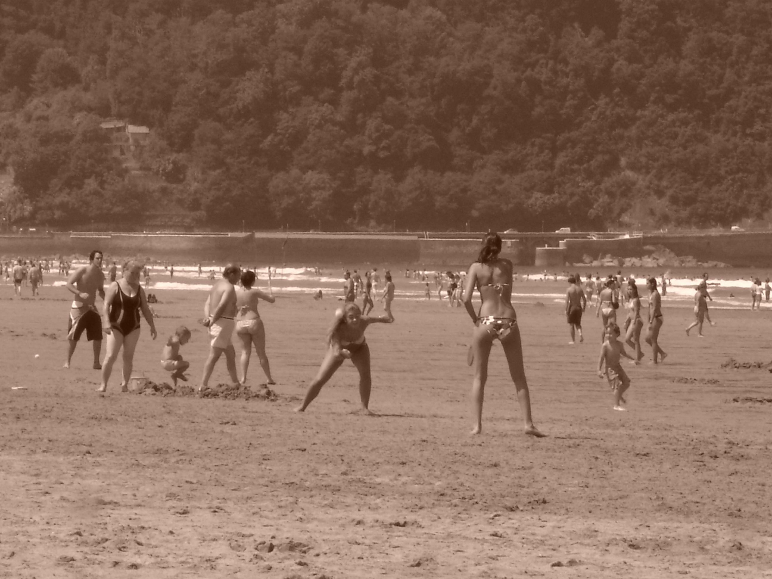 Foto playa Zarautz. ZARAUTZ JUL