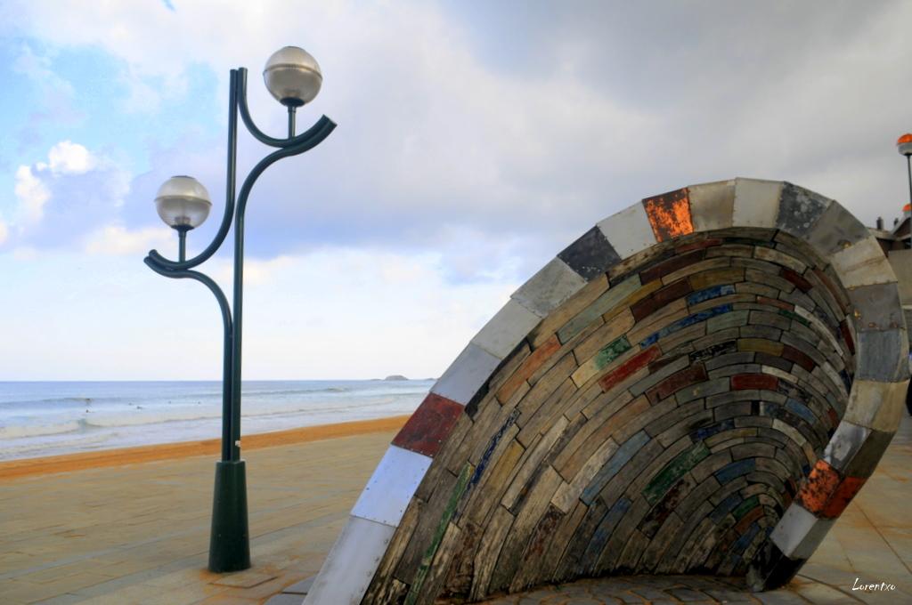 Foto playa Zarautz. La ola