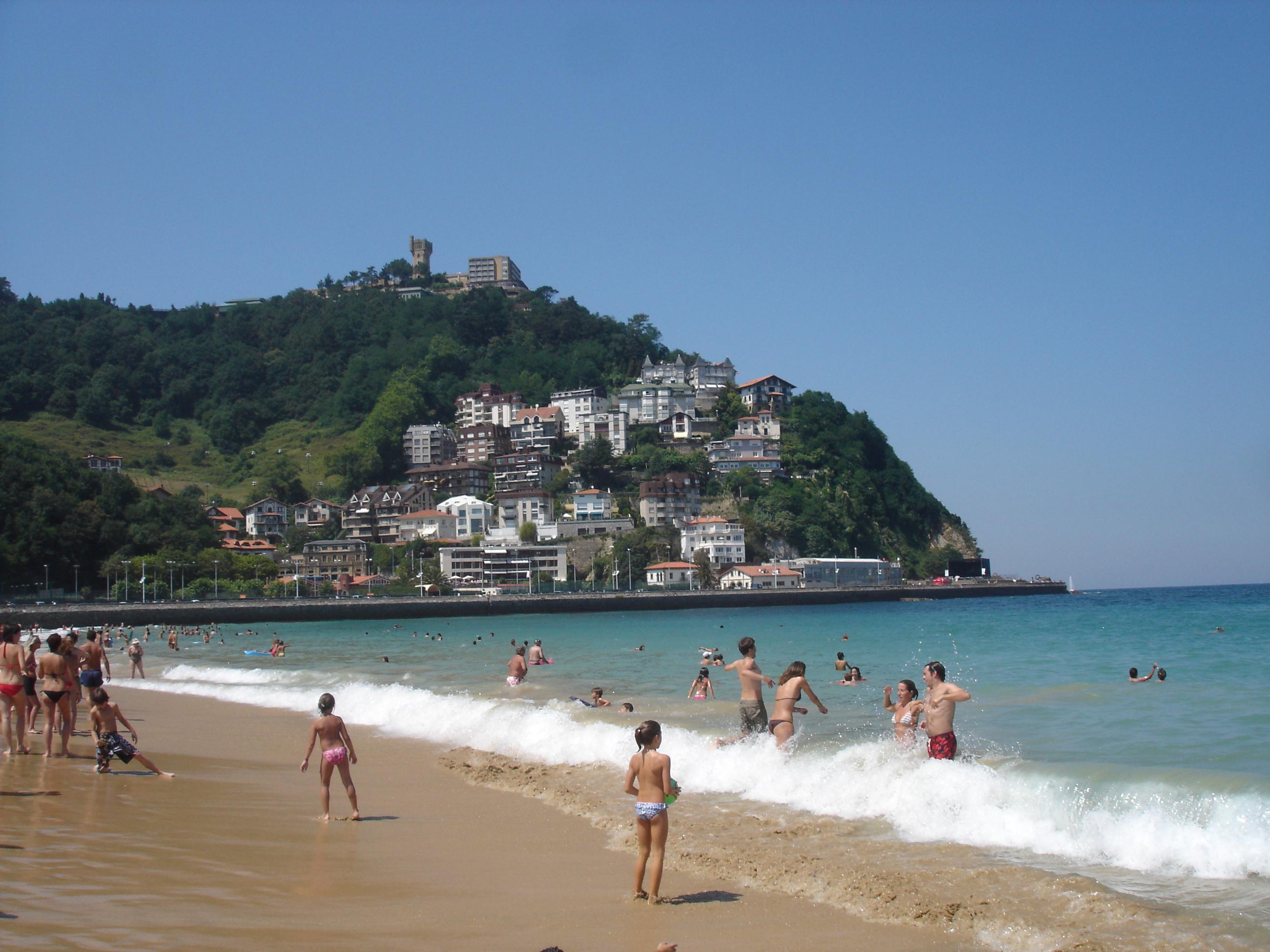 Foto playa Ondarreta. MONTE IGUELDO DESDE LA CONCHA JUL