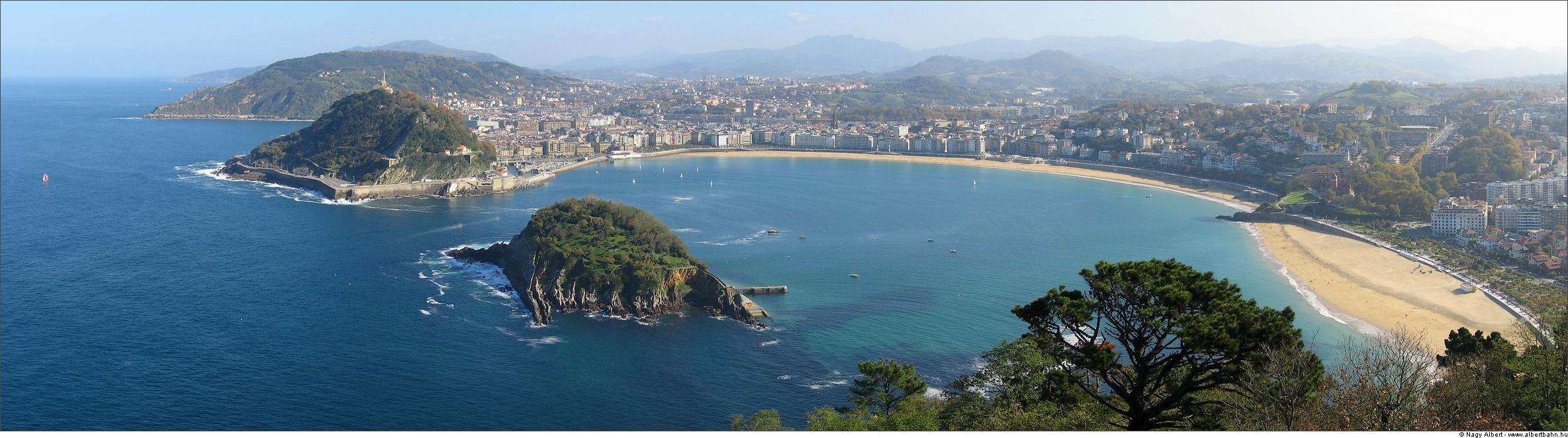 Foto playa Ondarreta. San Sebastian panorama - from Monte Igueldo