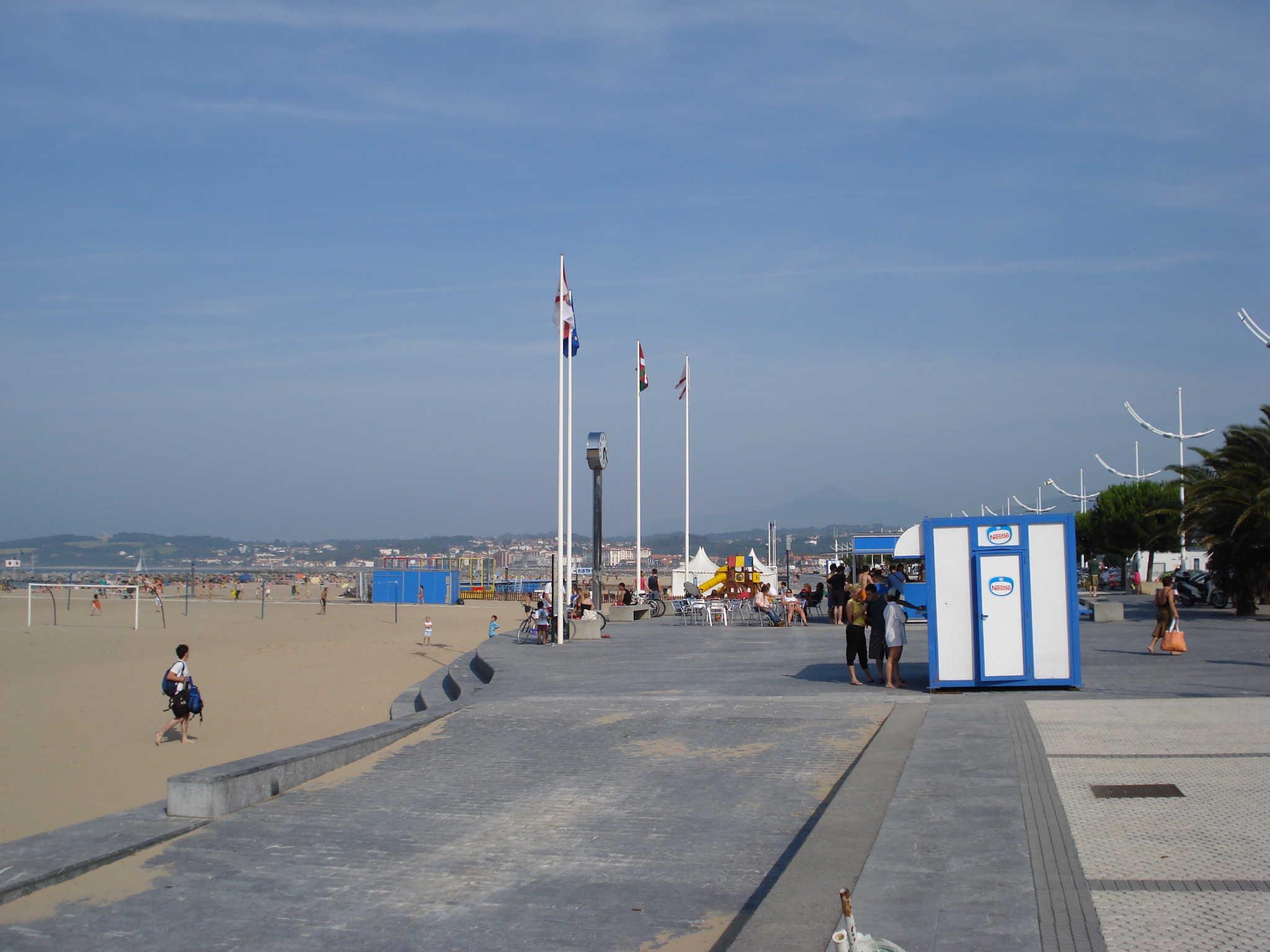 Foto playa Azabaratza. Hondarribia paseo maritimo
