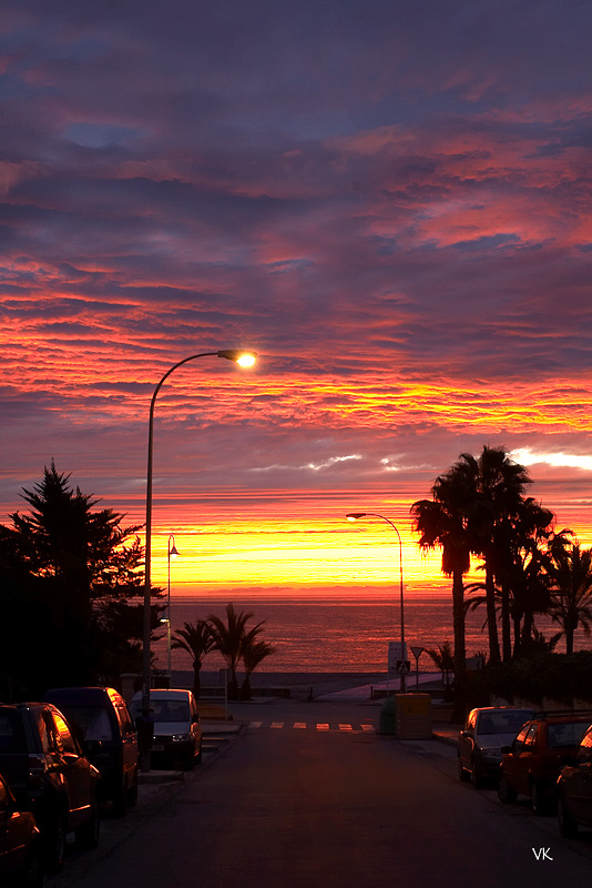 Foto playa Velilla. Bloody sunrise