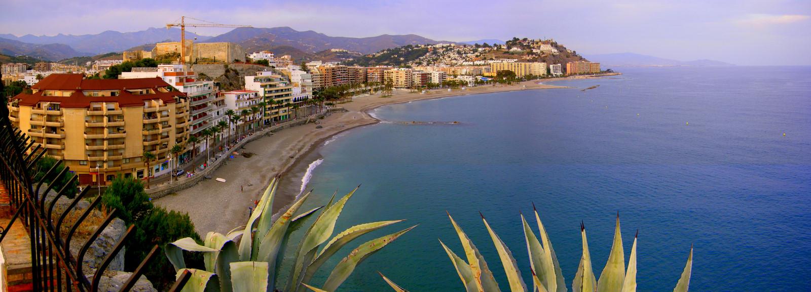 Foto playa Puerta del Mar / Fuentepiedra. Playa de Puerta del Mar, desde el Peñón de San Cristobal