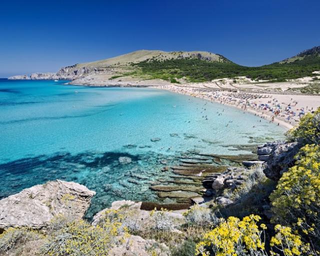 Foto playa Cala Mesquida.