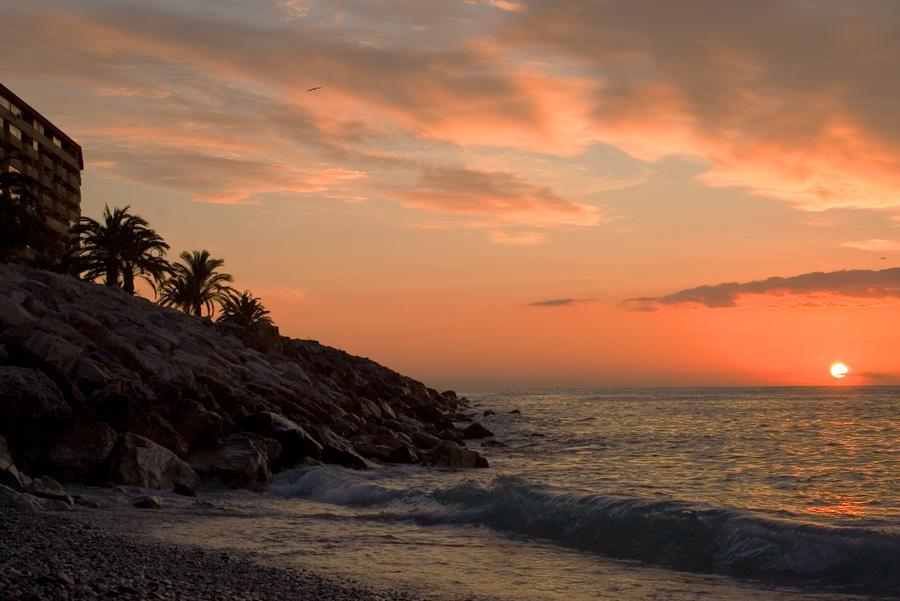 Foto playa Caletilla. Almunecar sunrise1