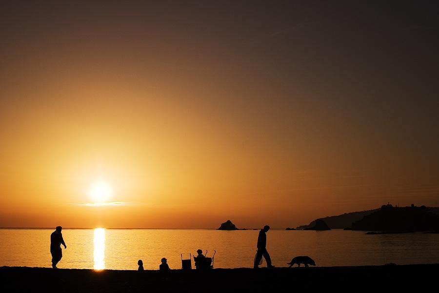 Foto playa Caletilla. Almunecar sunset