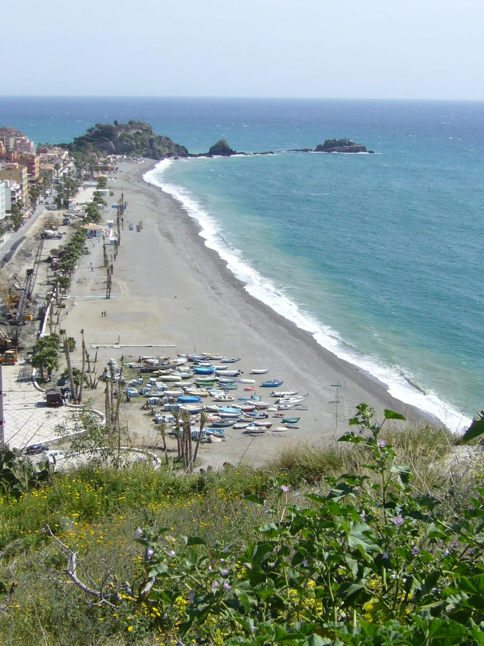 Foto playa San Cristóbal / La China. playa de Almuñécar