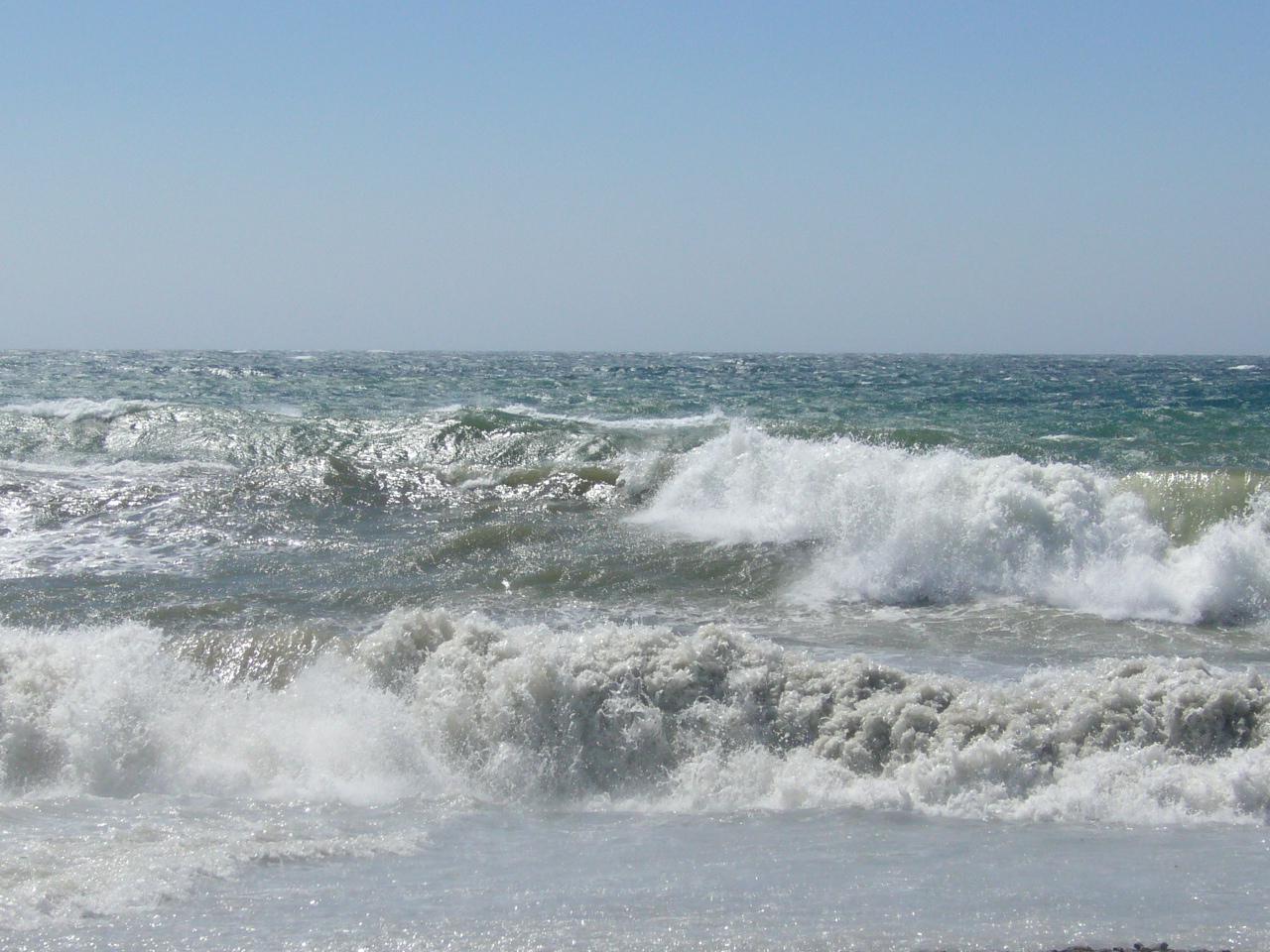 Foto playa San Cristóbal / La China. mar agitado
