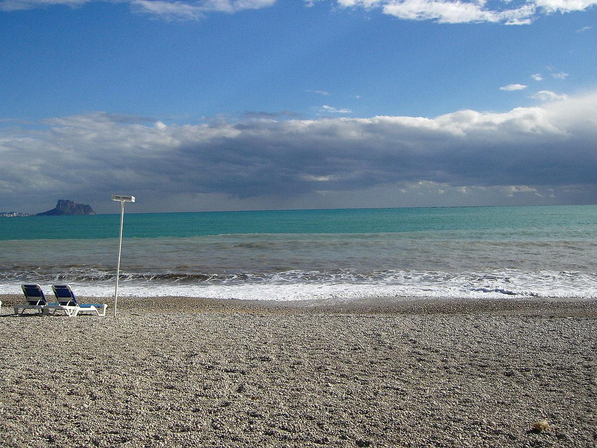 Foto playa El Albir / Playa del raco del Albir.