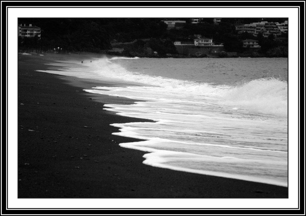 Foto playa La Herradura. resbalaje