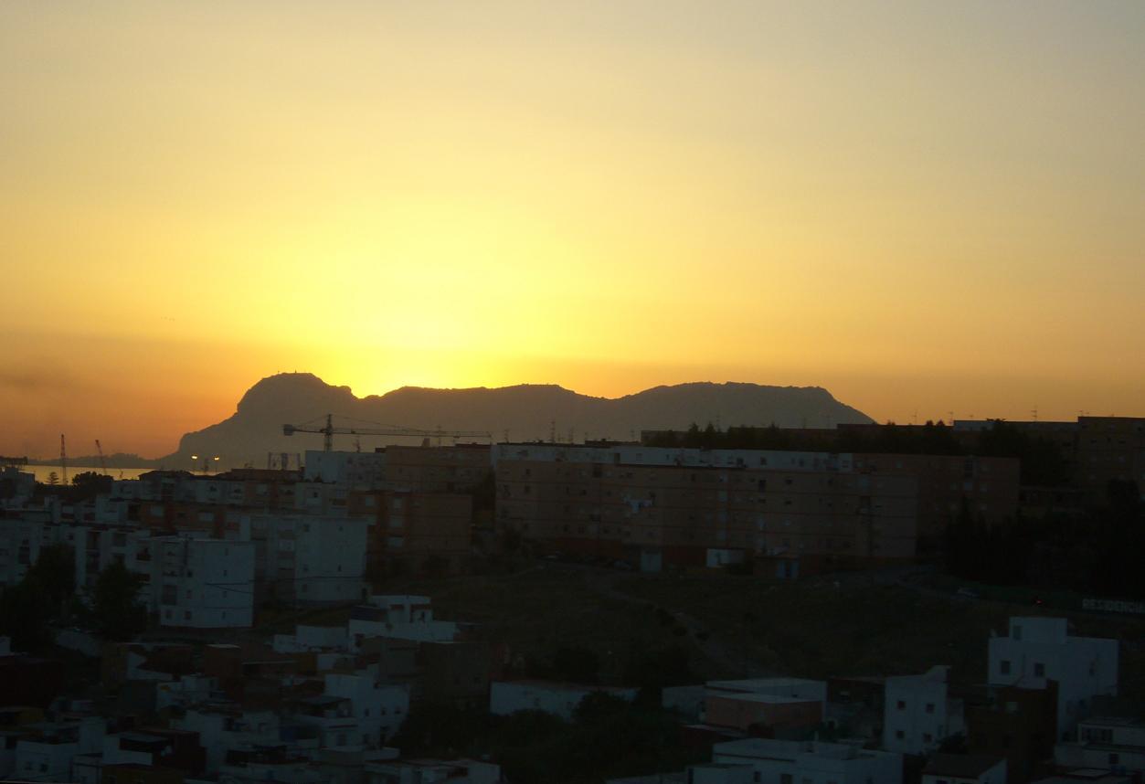Foto playa El Burgo / Torrenueva. amanecer Gibraltar