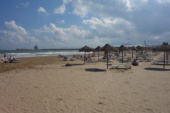 Foto playa Malvarrosa.