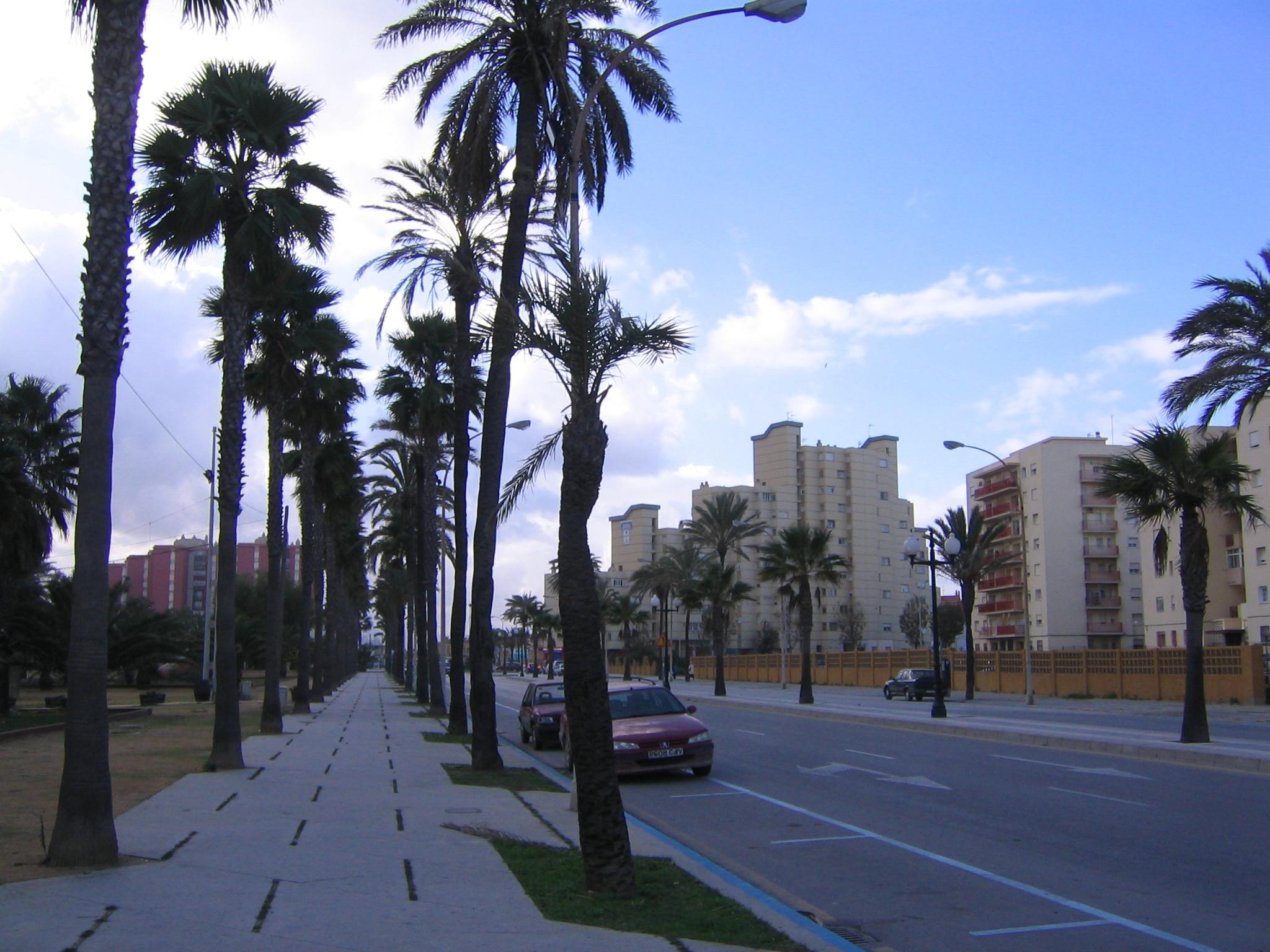 Foto playa Playa de Levante / Santa Bárbara. Avenida del Ejercito