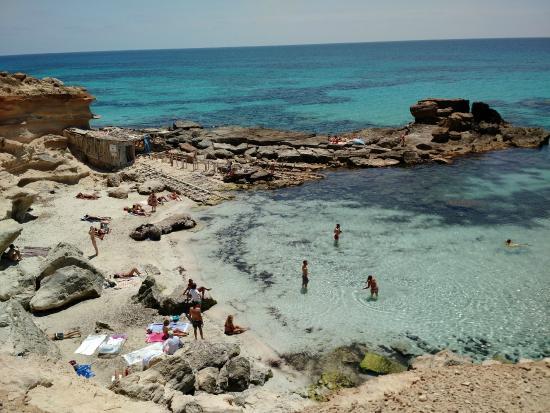 Foto playa Caló d´Es Morts.