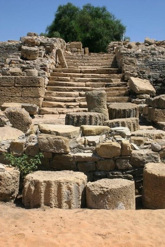 Foto playa Guadarranque. Ciudad romana de Carteia