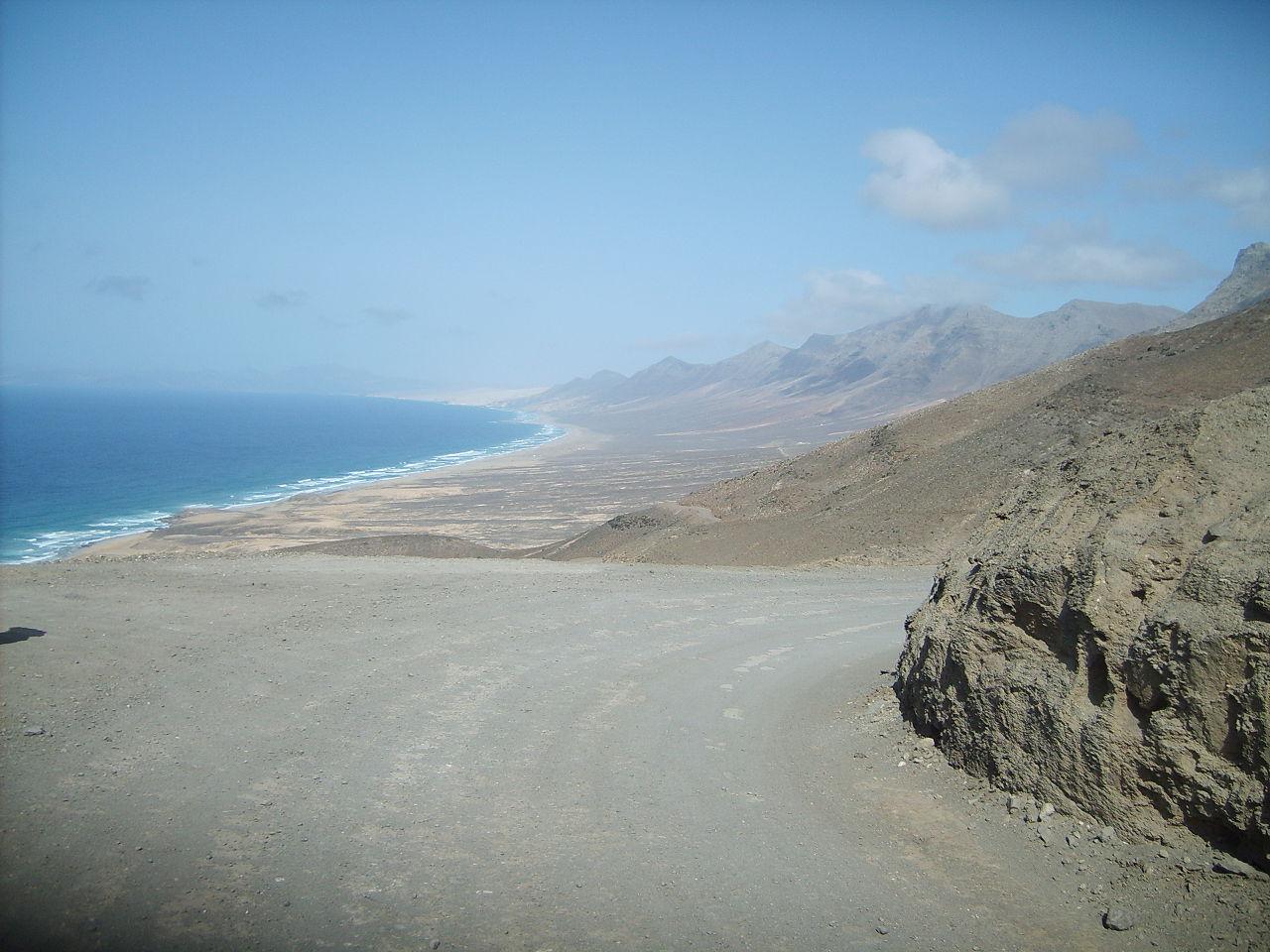 Foto playa El Cofete.