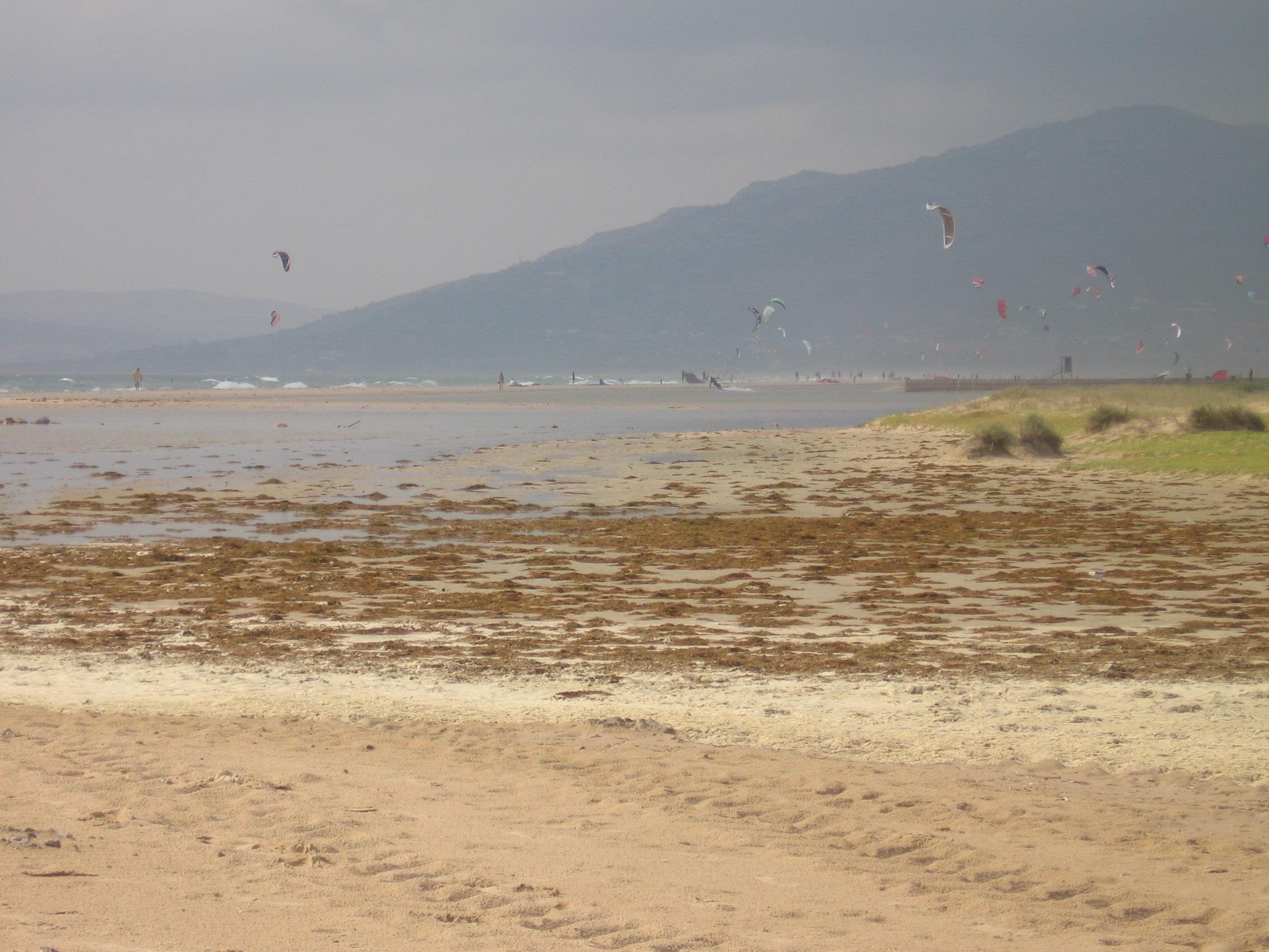 Foto playa Los Lances Sur. Tarifa - Kite surf