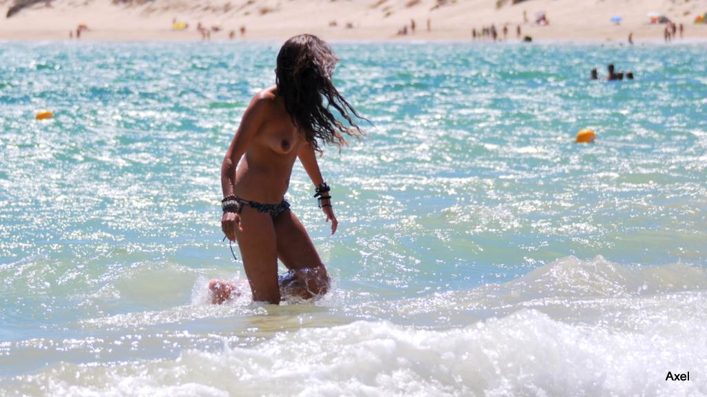 Foto playa Valdevaqueros. ...