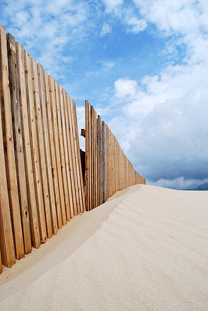 Foto playa Valdevaqueros. Homokfogó