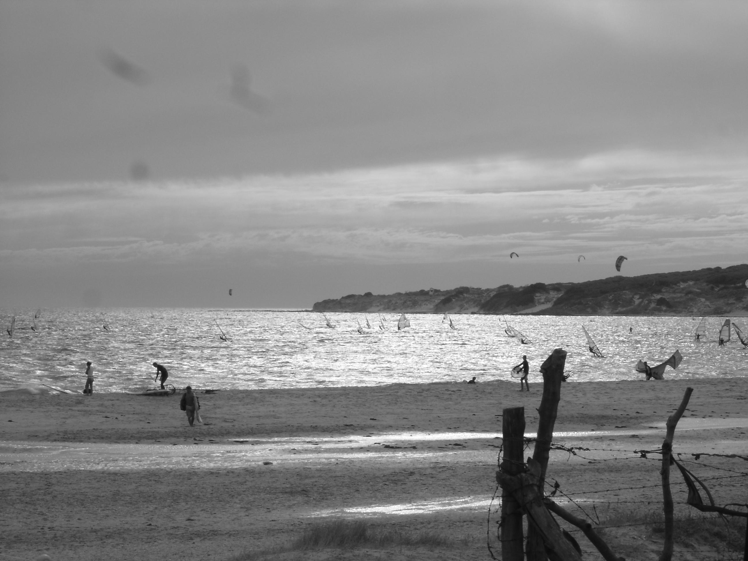 Foto playa Valdevaqueros. TARIFA KITESURF JUL