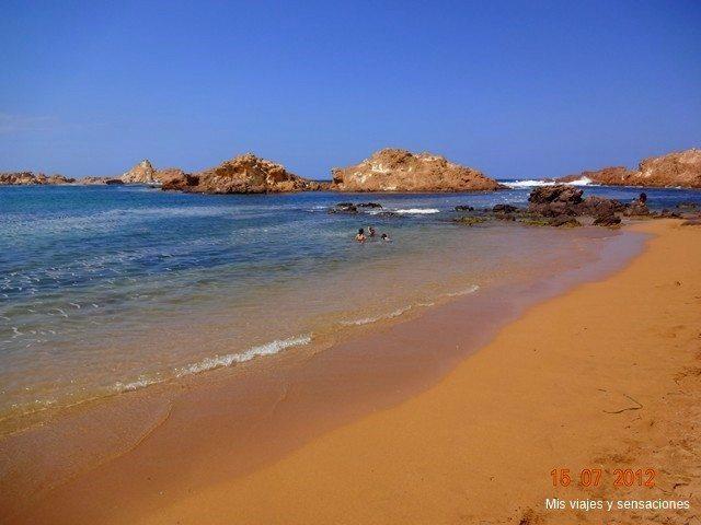 Foto playa Cala Pregonda.