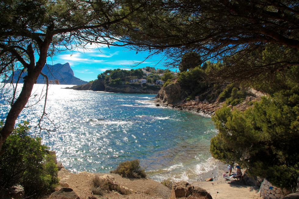 Foto playa Cala dels Pinets.