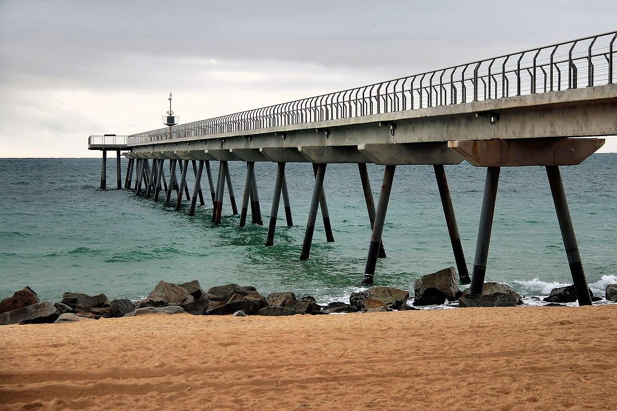 Foto playa Platja del Pont de Petroli.