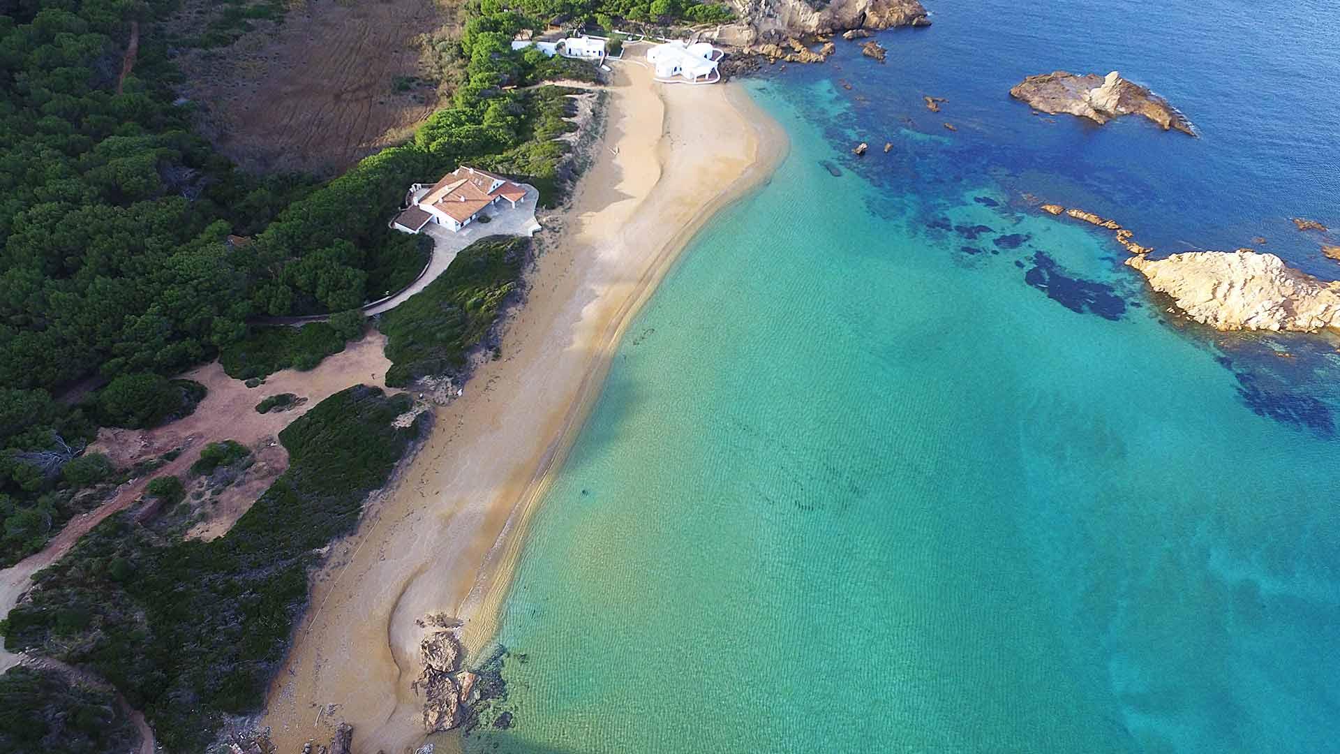Foto playa Cala Illa Mateua.