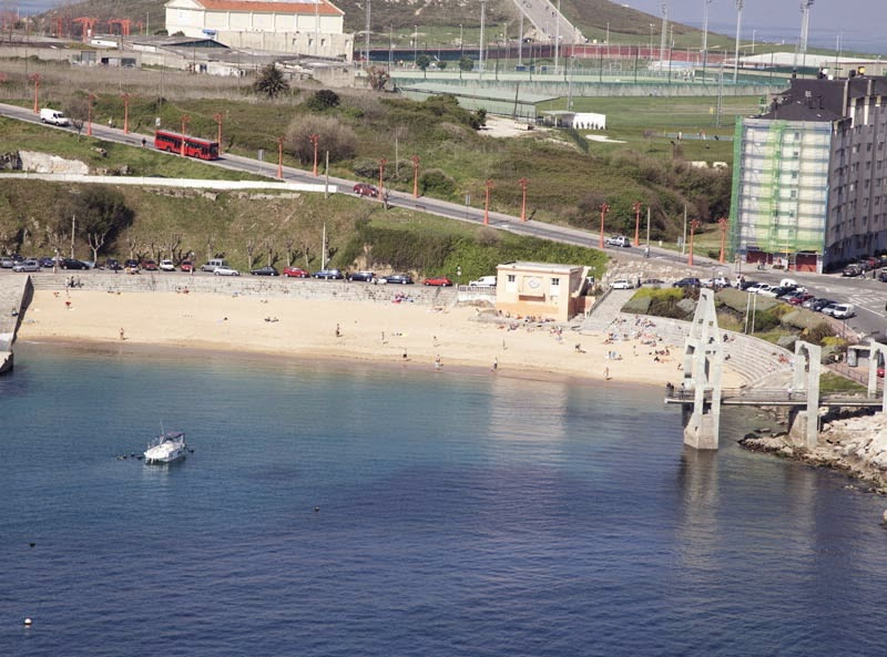 Foto playa San Amaro.