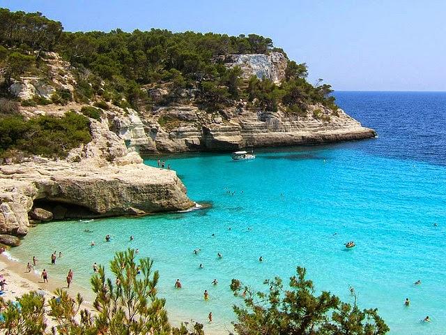 Foto playa Cala Mitjana.