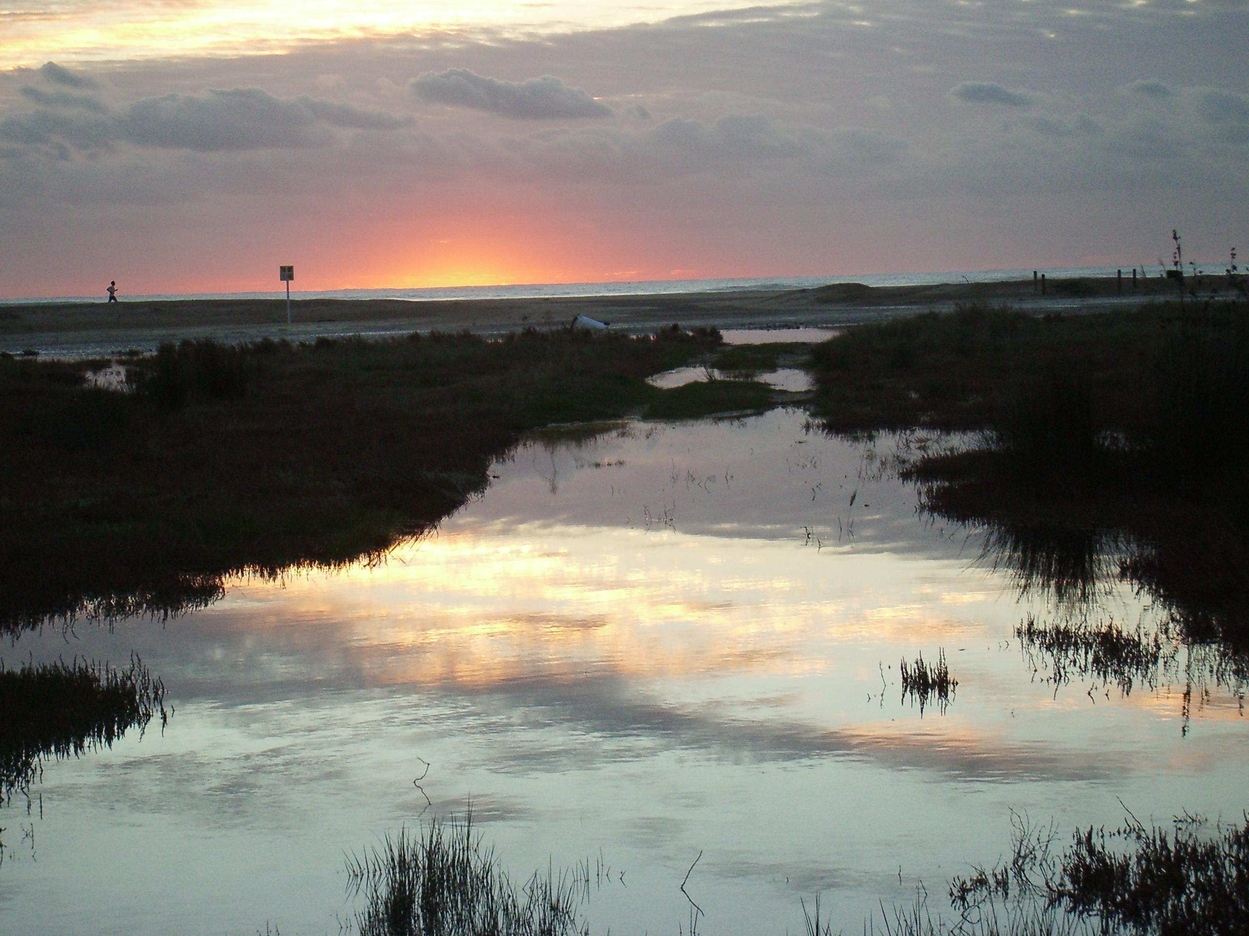 Foto playa Cala del Aceite. Atardecer desde Conil