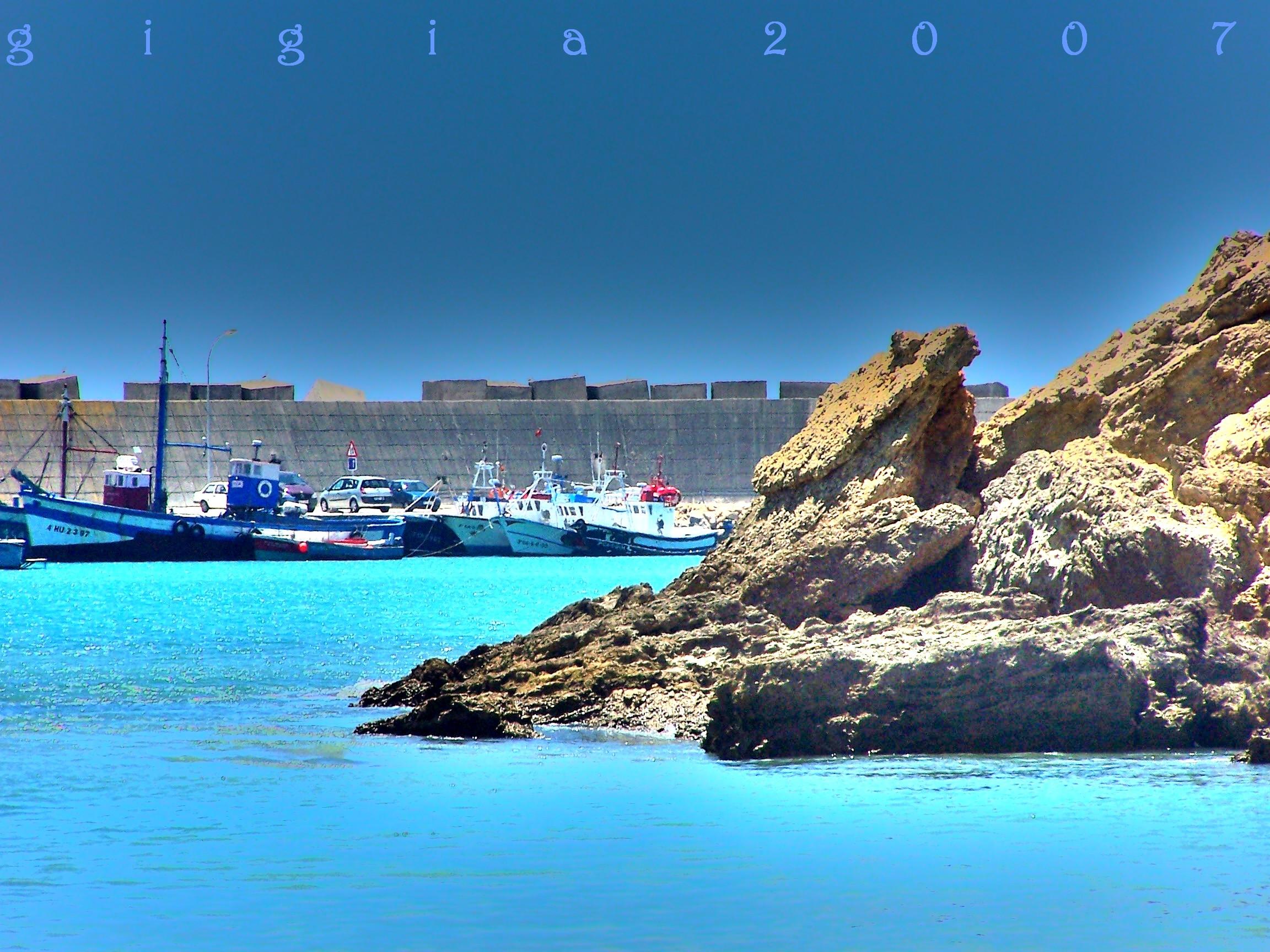Foto playa Cala del Aceite. Puerto de Conil.