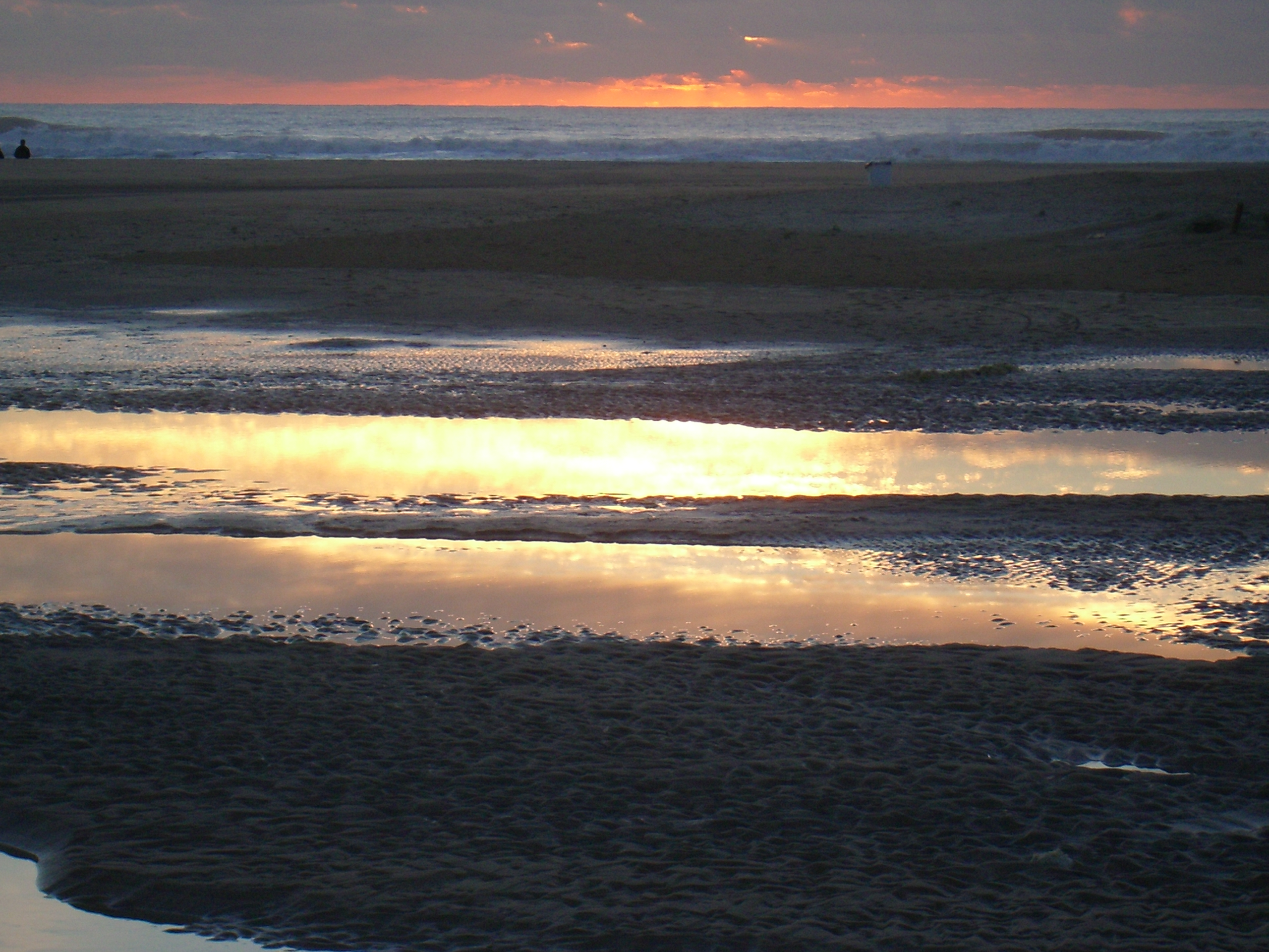 Foto playa Calas de Poniente. Paleta de colores al atardecer
