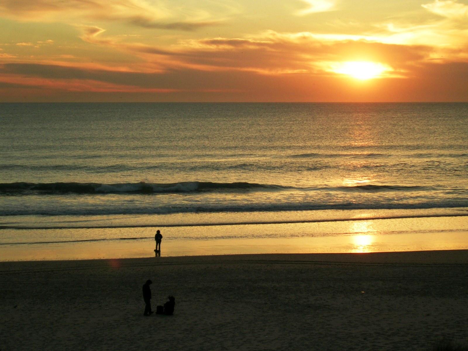 Foto playa El Puerco / La loma del puerco. Atardecer en la Barrosa