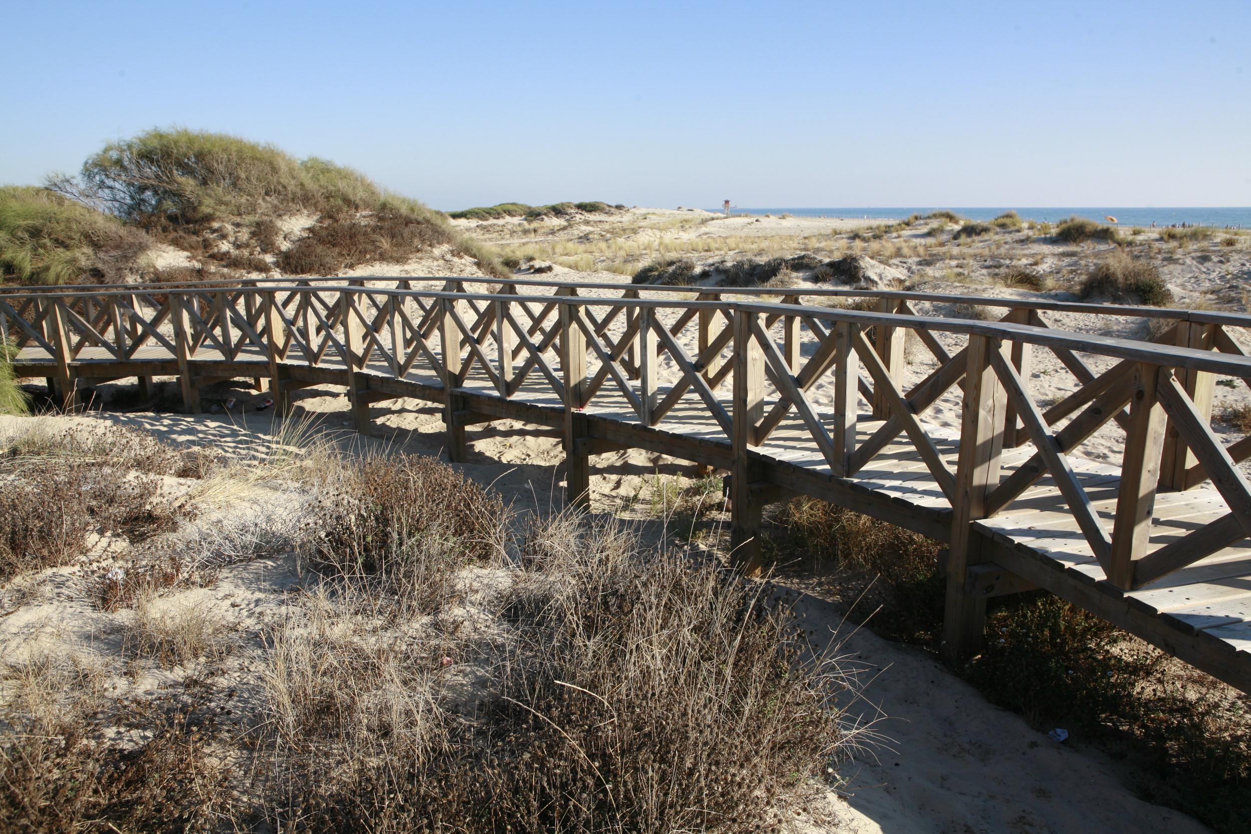 Foto playa La Barrosa. Ruta Punta del Boqueron