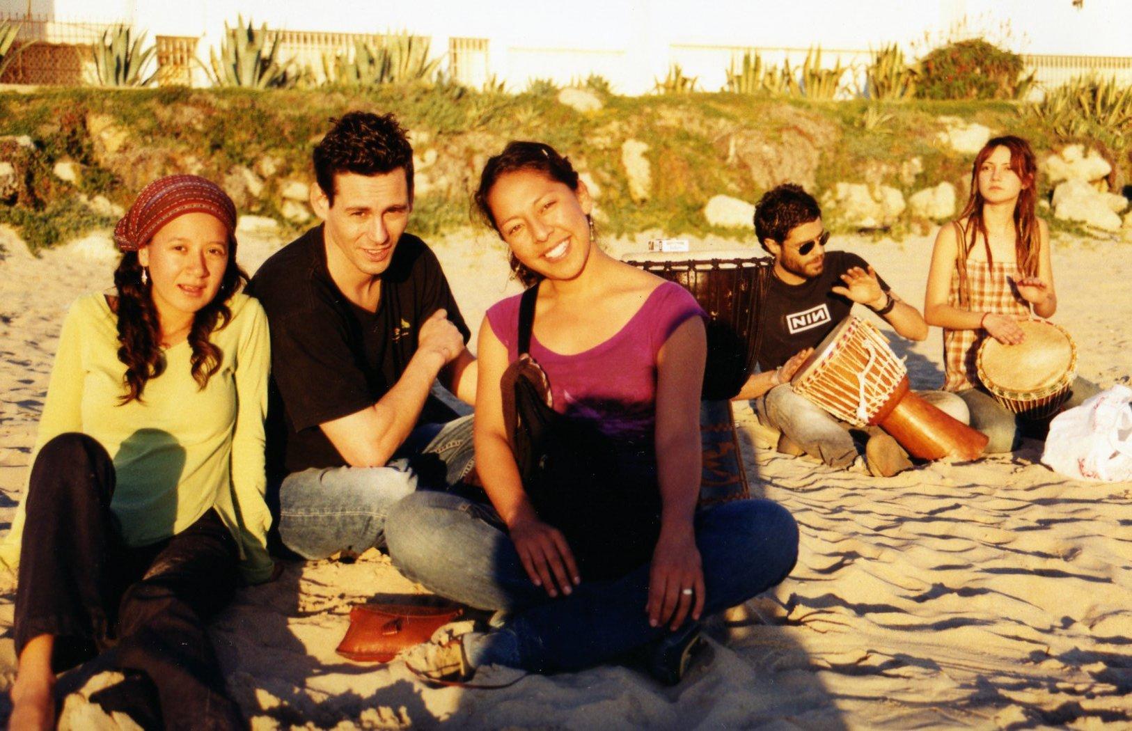 Foto playa La Calita. colores del sol