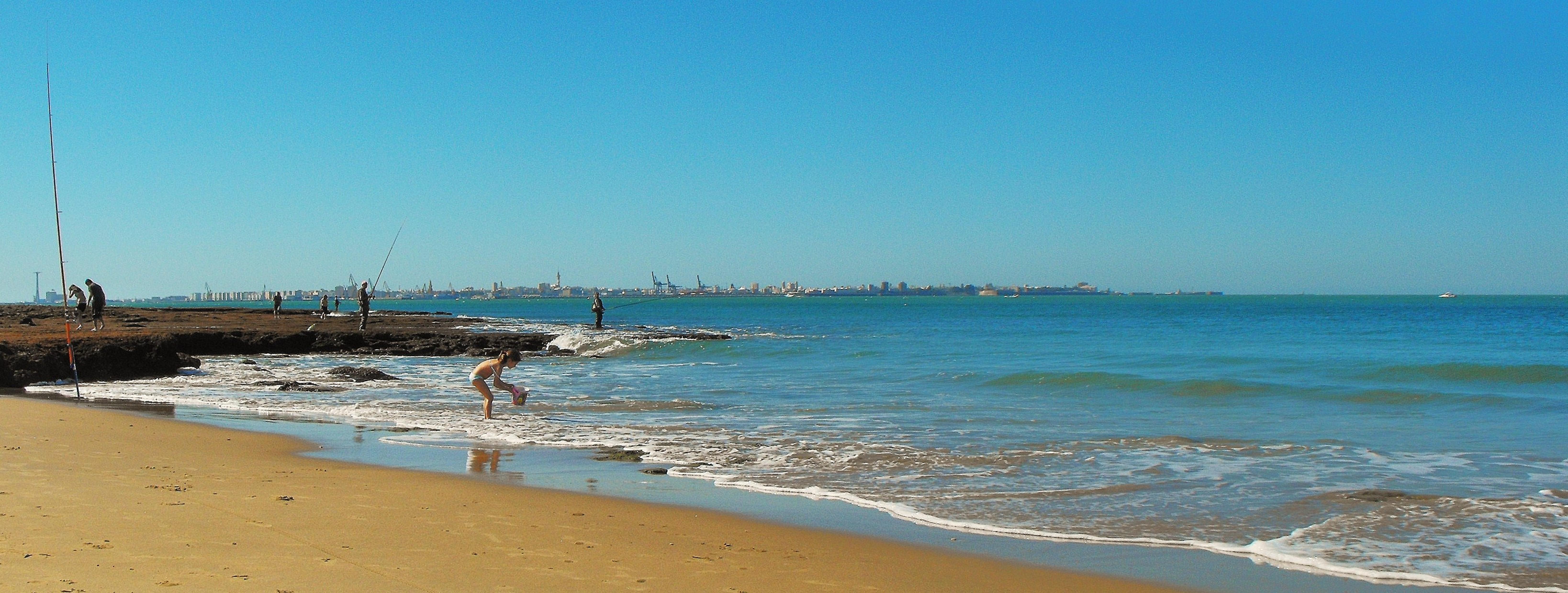 Foto playa Santa Catalina / Vistahermosa. **_Tanta vida ,como mar por delante_**