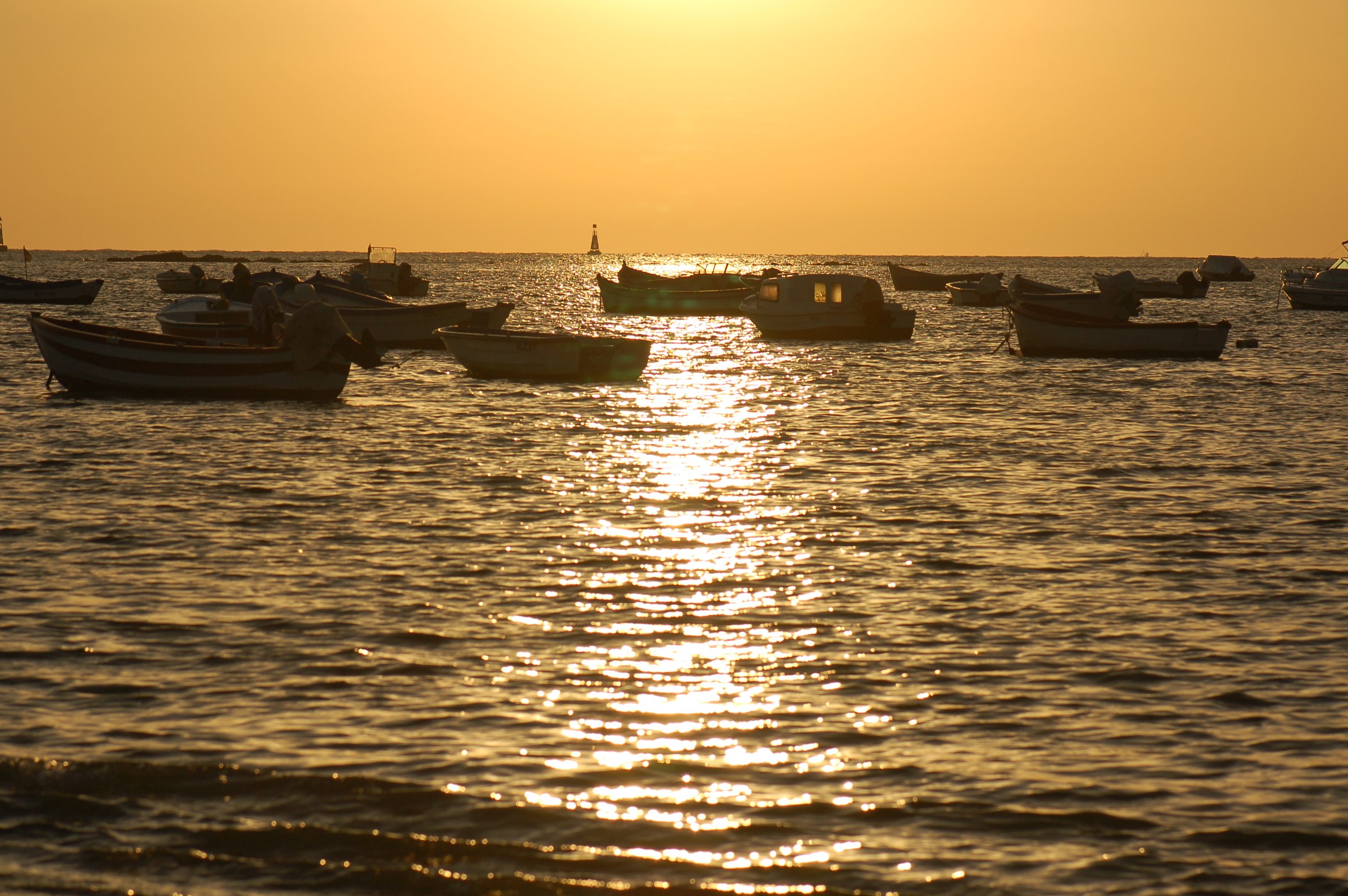 Foto playa La Calzada / El Hipódromo / Playa de Sanlúcar. Atardecer en Sanlúcar de Barrameda