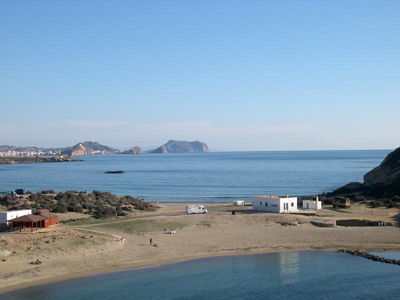Foto playa Cala Cerrada / Cala de los Cocederos. Cabo Cope a lo lejos