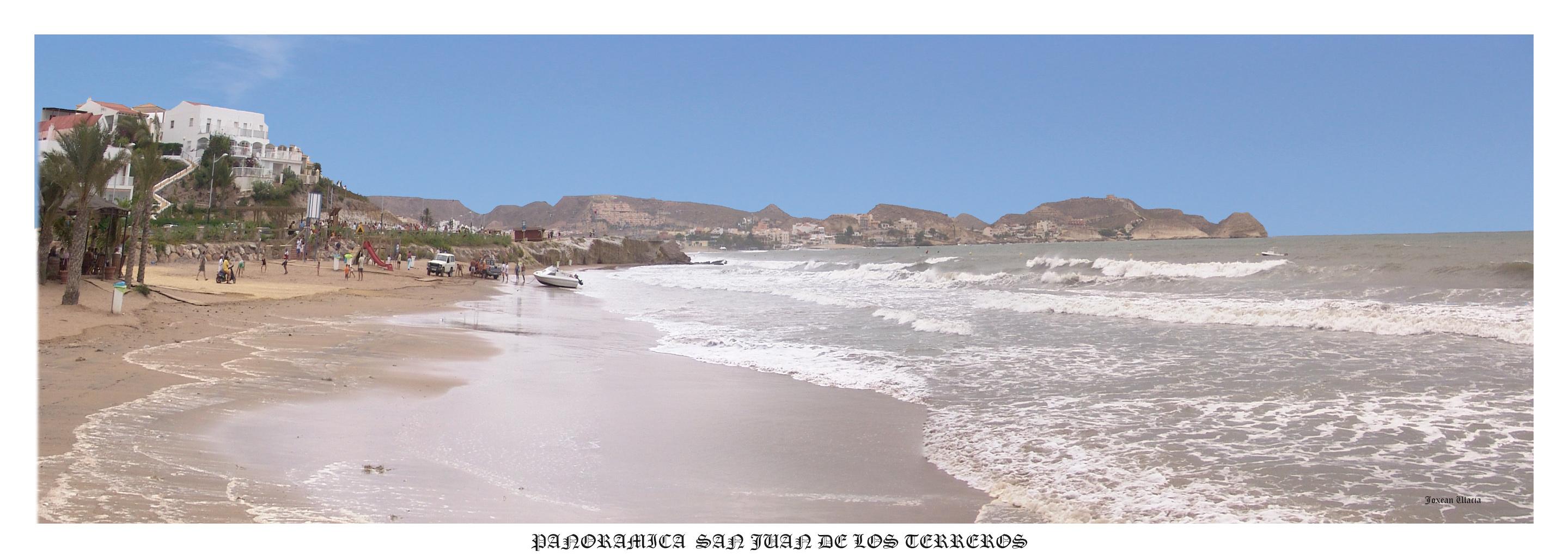 Foto playa Mar Serena. Panoramica San Juan de los terreros
