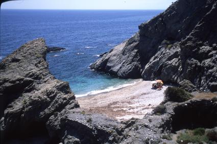 Foto playa Cala Cristal. Cala del Penon cortado