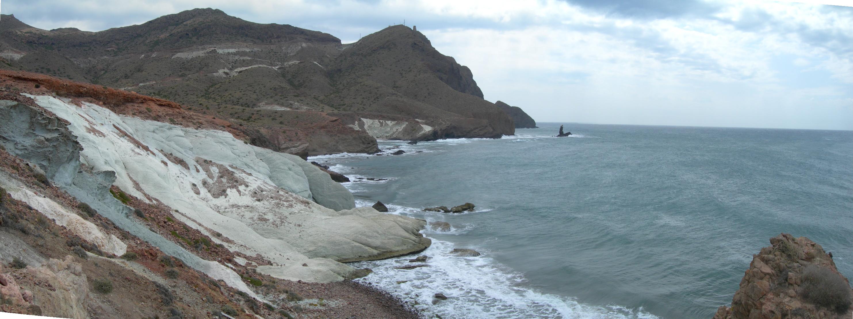 Foto playa El Sombrerico. Cabo de Gata vista