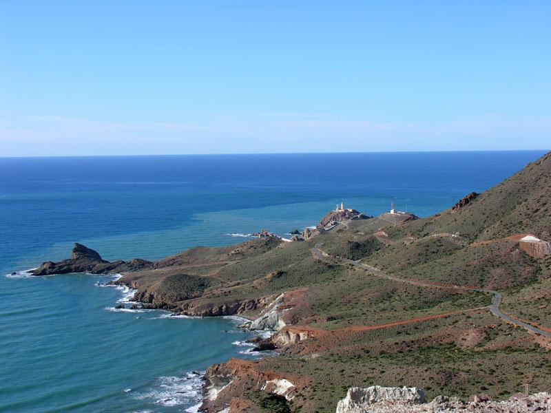 Foto playa El Sombrerico. Cabo y faro