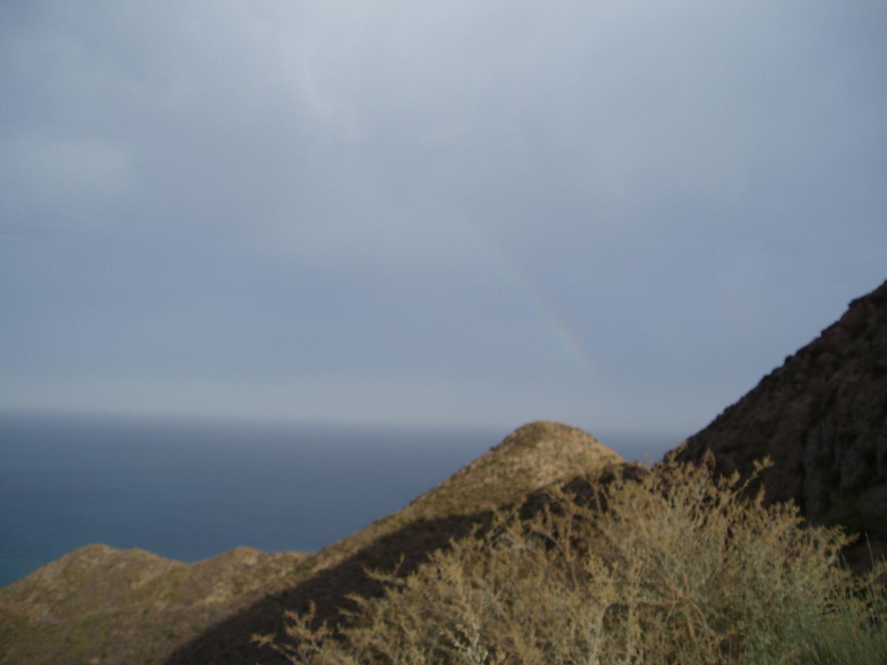 Foto playa El Algarrobico. Arco Iris