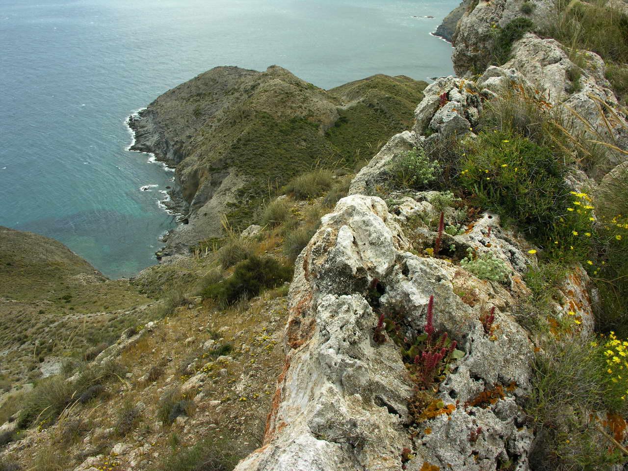 Foto playa Cala del Plomo. Arrecifes del Parque Natural de Cabo Gata